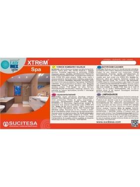 Label for XTREM SPA cleaner
