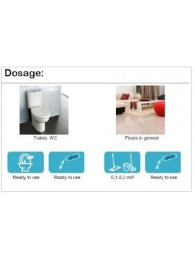 Gėlių kvapo pilamas oro gaiviklis WC patalpai AMBIGEN MAXI 500mlx6vnt.