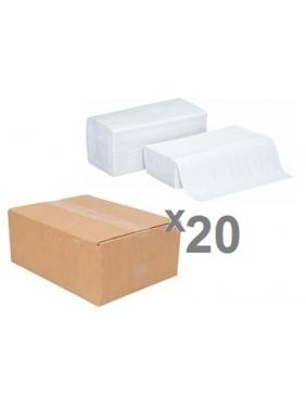 Popieriniai rankšluosčiai servetėlėmis PERFECT PLUS WHITE V (20pak.)