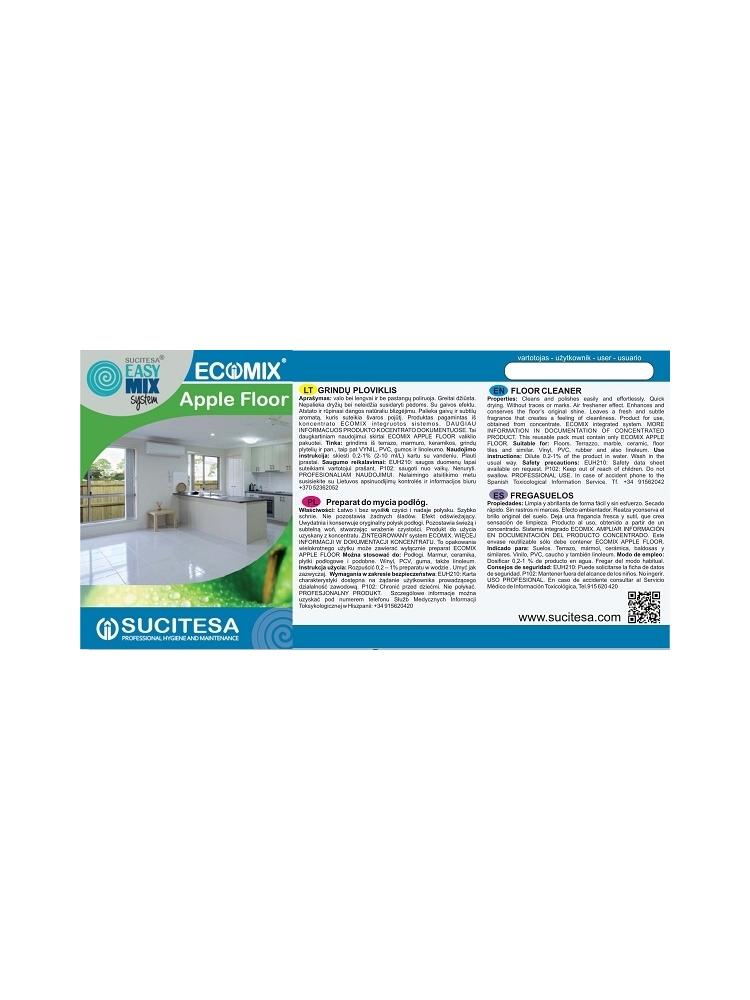 Label for ECOMIX FLOOR APPLE cleaner