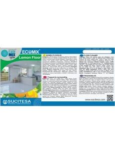 Label for ECOMIX FLOOR LEMONE cleaner