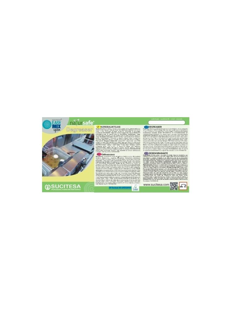 Label for NATURSAFE DEGREASER cleaner