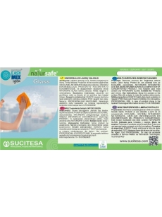 Label for NATURSAFE GLASS cleaner