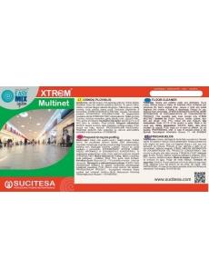 Label for XTREM MULTINET cleaner