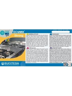 Lipni etiketė ECOMIX STRONG valikliui
