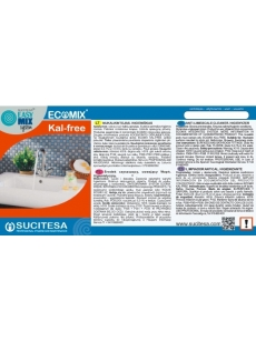 Label for ECOMIX KAL-FREE cleaner