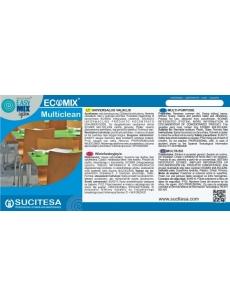 Lipni etiketė ECOMIX MULTICLEAN valikliui