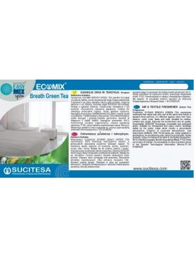Lipni etiketė ECOMIX BREATH GREEN TEA gaivikliui
