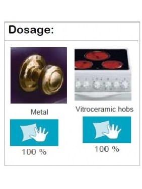 Metalo ir stiklo keramikos kaitlenčių poliruoklis PULIGEN METAL 500mlx6vnt.