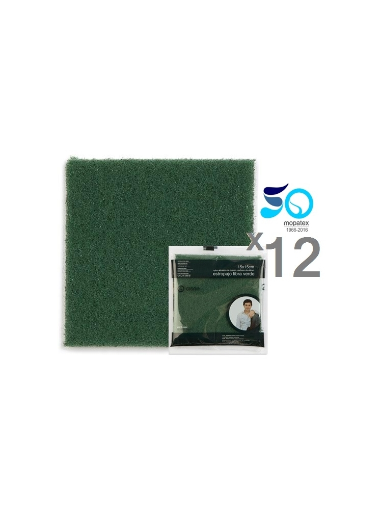 Strong Green Scouring Pad 15x20cm (12units)