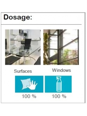 Ekologiškas stiklo valiklis NATURSAFE XTRA GLASS, 5Lx4vnt.