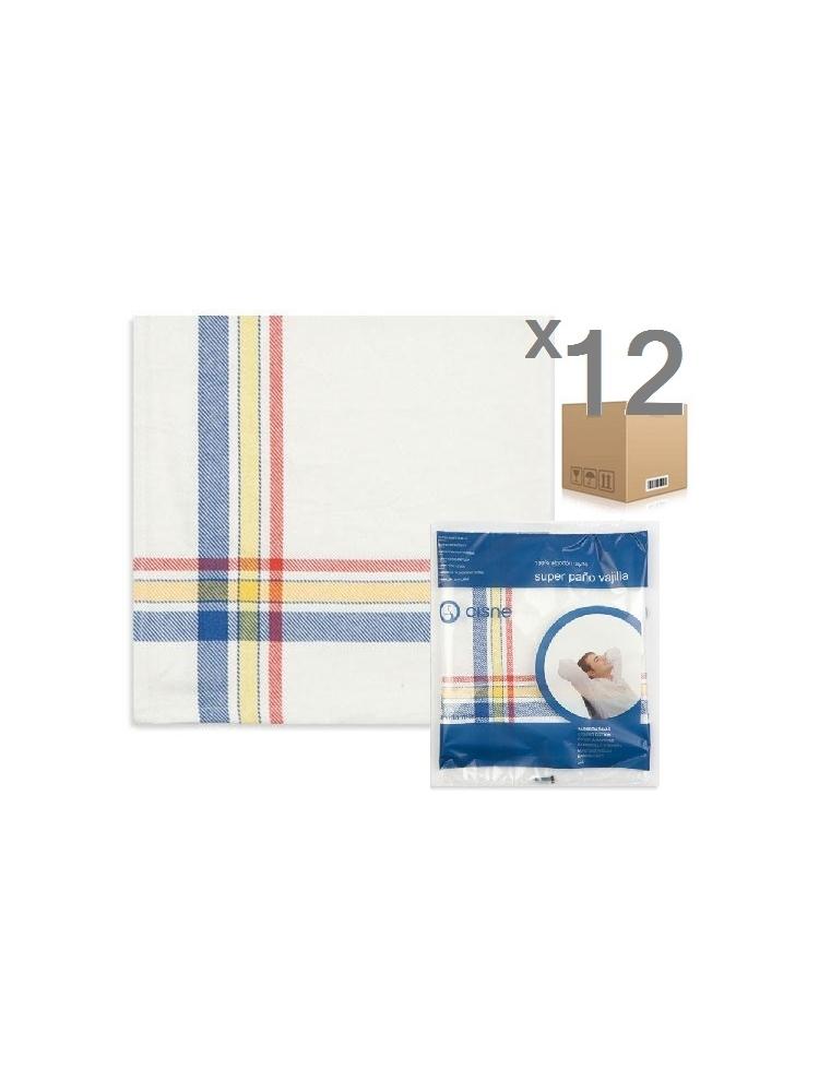 Cotton SUPER dish cloth, 55x55cm (12pcs)