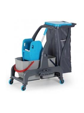 Dviejų kibirų valytojos vežimėlis PROCART 720S su atliekų maišu