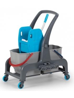 Dviejų kibirų valytojos vežimėlis PROCART 720S, 2x25L