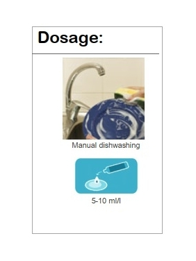 Sanitizer manual dishwashing detergent AQUAGEN DIP (high performance)