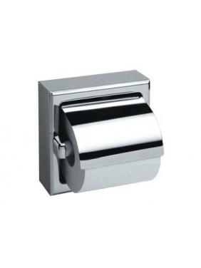 WC popieriaus ritinėlių laikiklis su dangteliu MEDISTEEL (blizgus)