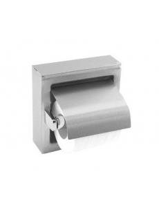 WC popieriaus ritinėlių laikiklis su dangteliu MEDISTEEL (matinis)