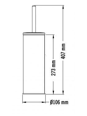 WC šepetys su laikikliu MEDISTEEL (blizgus)