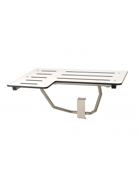 Reversable folding  seat with wall support