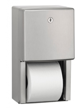 WC popieriaus ritinėlių laikiklis STANDART 2R (matinis)