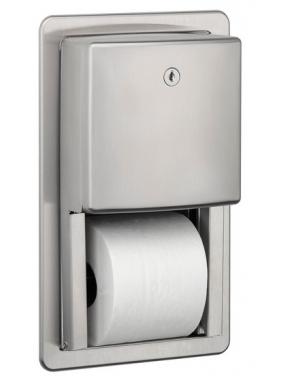 Įleidžiamas WC popieriaus ritinėlių laikiklis STANDART 2R (matinis)