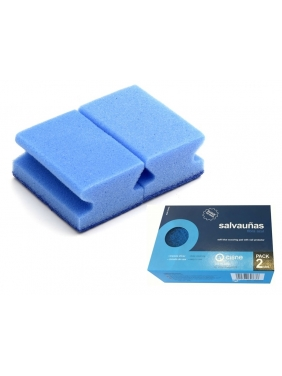 Kempinėlės SOFT BLUE su nagų apsauga, 2vnt.