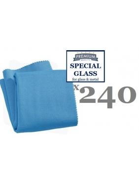 Mikrofibra stiklo-metalo blizginimui CISNE GLASS BLUE, 38x40cm (240vnt.)
