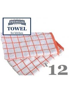 Microfiber and cotton KITCHEN TOWEL towel, 52x52cm (12units)