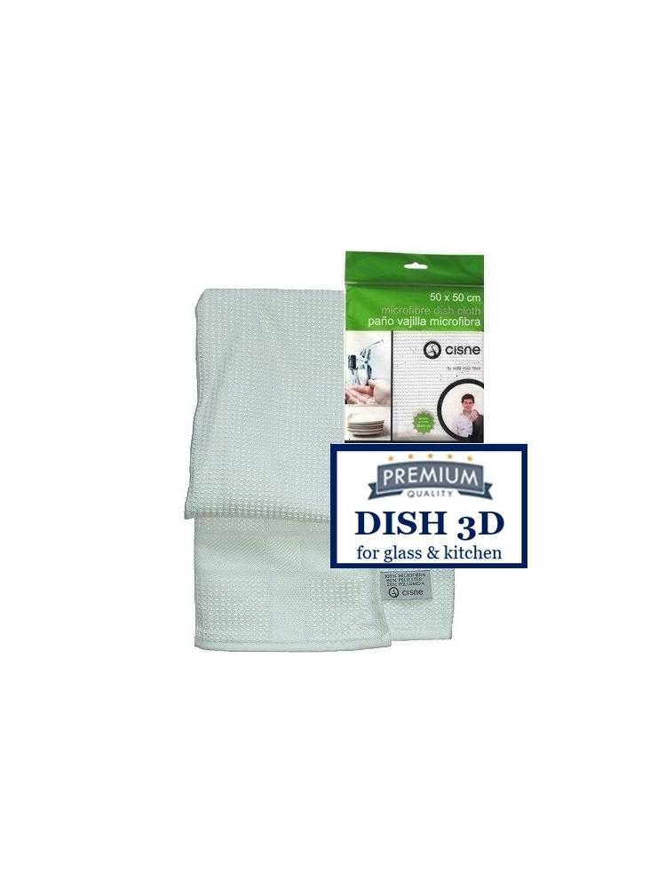 Mikropluošto šluostė indams sausinti DISH CLOTH 3D, 50x50cm