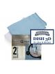 Microfiber cloth for draining dishes DISH CLOTH 3D,50x50cm (2units)