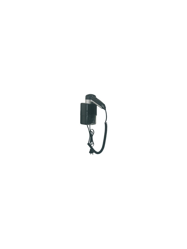 Hair dryer with cord, plug and shaver socket SC0030CS (Black)