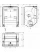 Automatinis popierinių rankšluosčių - rulonų laikiklis DT0208ACS (matinis)