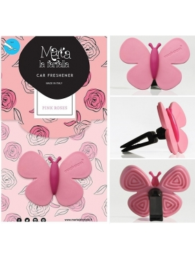 Auto fragrance MARTA LA FARFALLA PINK ROSES