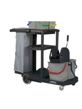 Universalus vežimėlis kambarinėms SERVICE CART, 2x17L