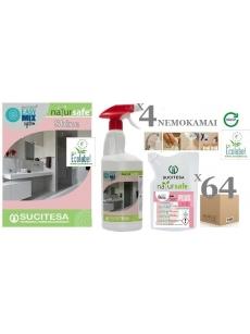 Bathroom cleaner NATURSAFE PLUS SHINE (Ecolabel) x 64units