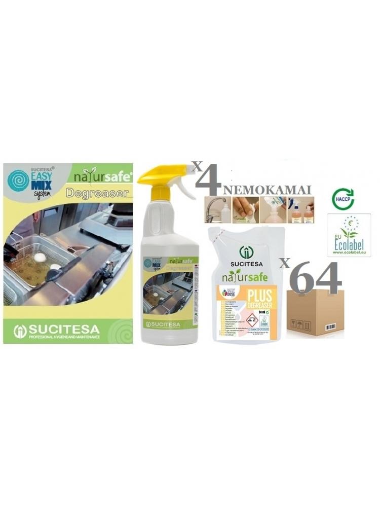 Kithcen cleaner NATURSAFE PLUS DEGREASER (Ecolabel) x 64units
