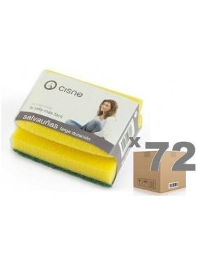 Sponge with nails protector CISNE 10x7,5x5cm (72units)