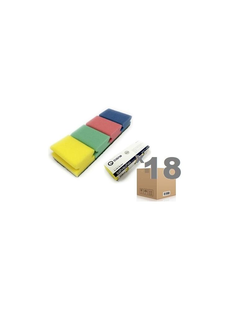 Kempinėlės šveitimui CISNE COLOR 9x7x4.5cm (72vnt.)