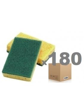 Strong green scouring pad CISNE DISH 12x8x2cm (180units)