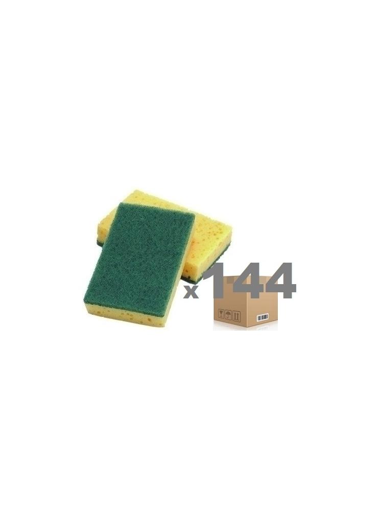 Strong green scouring pad CISNE DISH 15x10x2cm (144units)