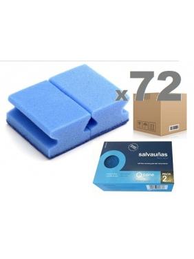 Scouring pad SOFT BLUE 9x7x4,5cm (72units)