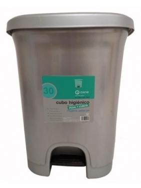 Atliekų dėžė su pedalu HYGIENIC GREY 30 L
