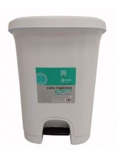 HYGIENIC PEDAL BIN CONTAINER 30 L (WHITE)