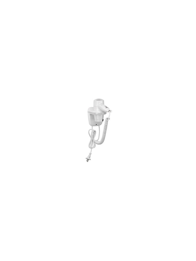 Hair dryer wiht cord, plug and shaver socket, 1800W (white)