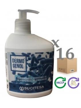 Hydroalcoholic gel DERMOGENOL 500mlx16units