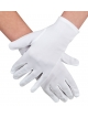 White nylon gloves (12 pairs)