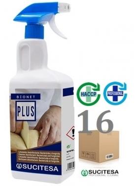 Universali paviršių dezinfekcija BIONET PLUS, 1Lx16vnt. (alkoholinė)