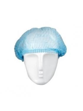 Vienkartinės gofruotos kepuraitės, mėlynos (100vnt.)