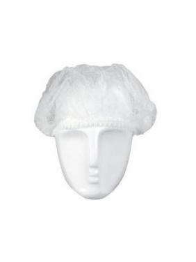 Vienkartinės gofruotos kepuraitės, baltos (100vnt.)