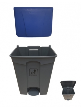 Šiukšliadėžė su pedalu 70L (mėlyna)